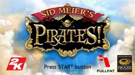 Title screen of Sid Meier's Pirates on the Sony PSP.