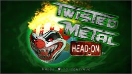 Title screen of Twisted Metal: Head-On on the Sony PSP.