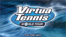 Title screen of Virtua Tennis: World Tour on the Sony PSP.
