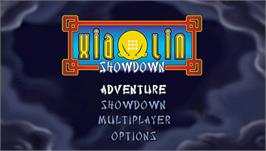 Title screen of Xiaolin Showdown on the Sony PSP.