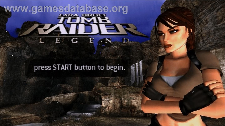 Lara Croft Tomb Raider Legend Sony Psp Artwork Title Screen
