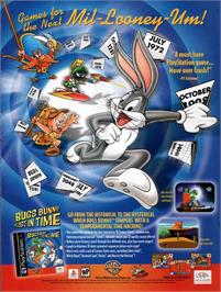 Advert for Bugs Bunny Lost in Time on the Sony Playstation.