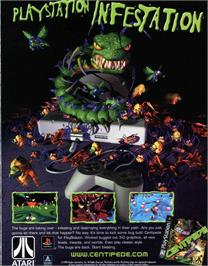 Advert for Centipede on the Sony Playstation.