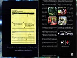 Advert for Star Ocean: The Second Story on the Sony Playstation.