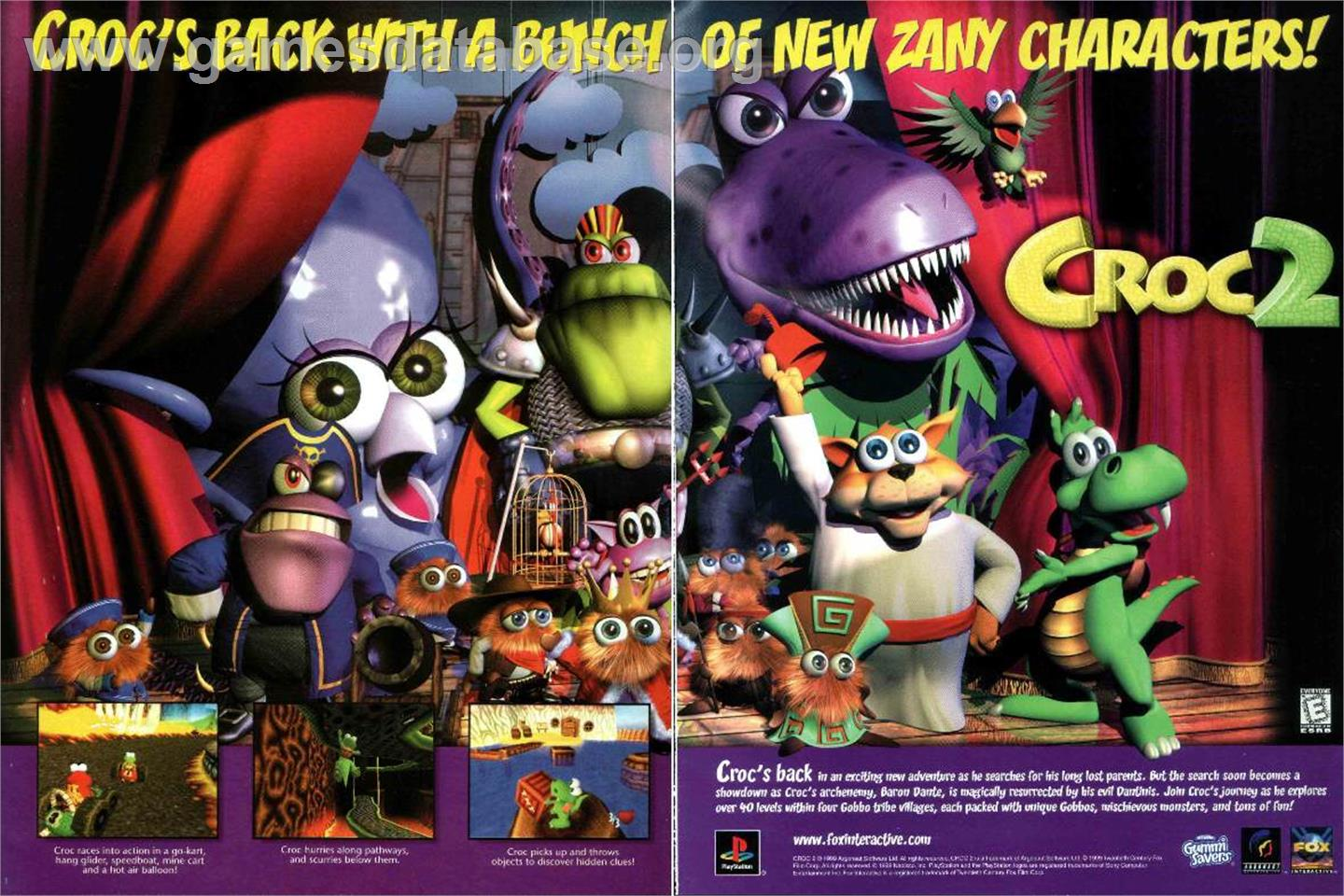 Advert for Croc 2 on the Nintendo Game Boy Color.