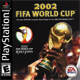 Box cover for 2002 FIFA World Cup on the Sony Playstation.