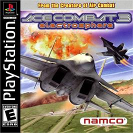 Box cover for Ace Combat 3: Electrosphere on the Sony Playstation.