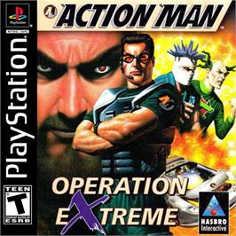 Box cover for Action Man: Operation Extreme on the Sony Playstation.