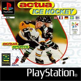 Box cover for Actua Ice Hockey on the Sony Playstation.