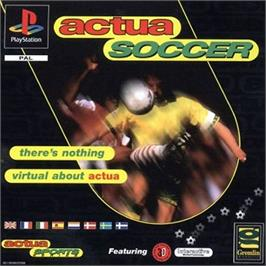 Box cover for Actua Soccer on the Sony Playstation.