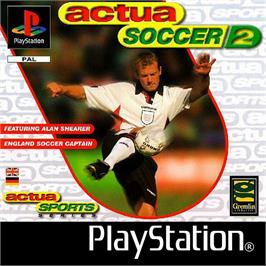 Box cover for Actua Soccer 2 on the Sony Playstation.