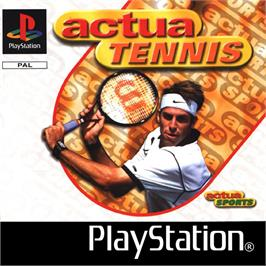 Box cover for Actua Tennis on the Sony Playstation.