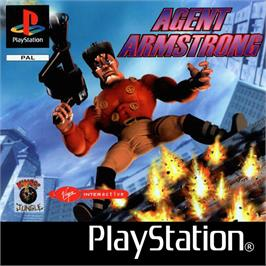 Box cover for Agent Armstrong on the Sony Playstation.