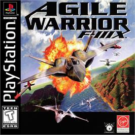 Box cover for Agile Warrior: F-111X on the Sony Playstation.