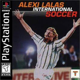 Box cover for Alexi Lalas International Soccer on the Sony Playstation.