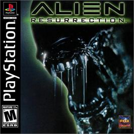Box cover for Alien Resurrection on the Sony Playstation.