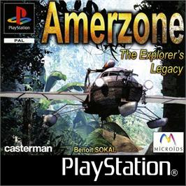 Box cover for AmerZone: The Explorer's Legacy on the Sony Playstation.