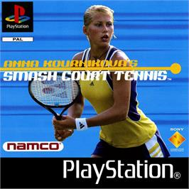 Box cover for Anna Kournikova's Smash Court Tennis on the Sony Playstation.