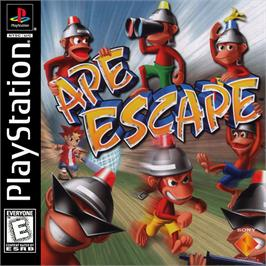 Box cover for Ape Escape on the Sony Playstation.