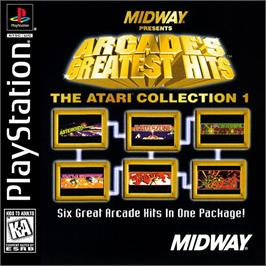 Box cover for Arcade's Greatest Hits: The Atari Collection 1 on the Sony Playstation.
