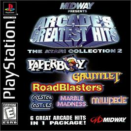 Box cover for Arcade's Greatest Hits: The Atari Collection 2 on the Sony Playstation.