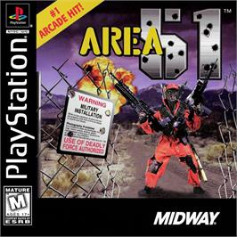 Box cover for Area 51 on the Sony Playstation.