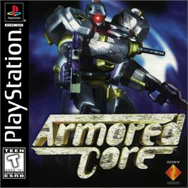 Box cover for Armored Core: Master of Arena on the Sony Playstation.