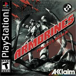 Box cover for Armorines: Project S.W.A.R.M. on the Sony Playstation.