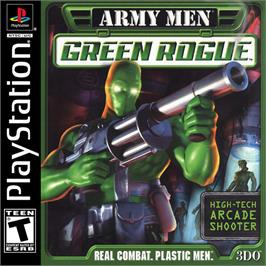 Box cover for Army Men: Green Rogue on the Sony Playstation.