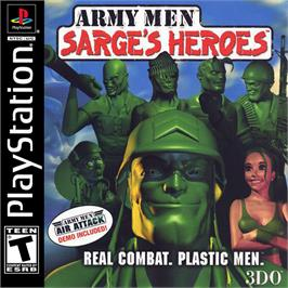 Box cover for Army Men: Sarge's Heroes on the Sony Playstation.