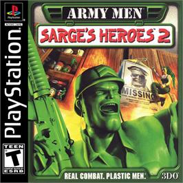 Box cover for Army Men: Sarge's Heroes 2 on the Sony Playstation.