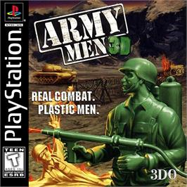 Box cover for Army Men 3D on the Sony Playstation.