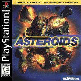 Box cover for Asteroids on the Sony Playstation.