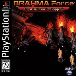 Box cover for BRAHMA Force: The Assault on Beltlogger 9 on the Sony Playstation.