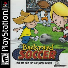 Box cover for Backyard Soccer on the Sony Playstation.