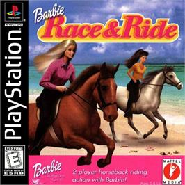 Box cover for Barbie: Race and Ride on the Sony Playstation.