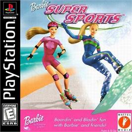 Box cover for Barbie: Super Sports on the Sony Playstation.