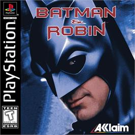 Box cover for Batman & Robin on the Sony Playstation.