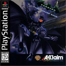 Box cover for Batman Forever: The Arcade Game on the Sony Playstation.