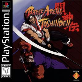 Box cover for Battle Arena Toshinden on the Sony Playstation.