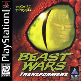 Box cover for Beast Wars: Transformers on the Sony Playstation.