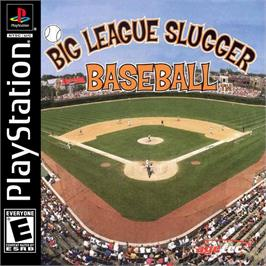 Box cover for Big League Slugger Baseball on the Sony Playstation.