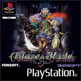 Box cover for Blaze and Blade: Eternal Quest on the Sony Playstation.