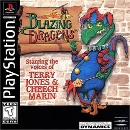 Box cover for Blazing Dragons on the Sony Playstation.