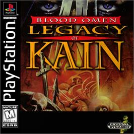 Box cover for Blood Omen: Legacy of Kain on the Sony Playstation.