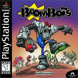 Box cover for BoomBots on the Sony Playstation.