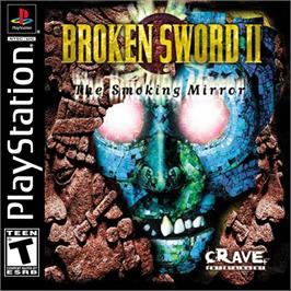 Box cover for Broken Sword 2: The Smoking Mirror on the Sony Playstation.