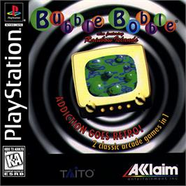 Box cover for Bubble Bobble also featuring Rainbow Islands on the Sony Playstation.