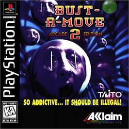 Box cover for Bust-A-Move 2: Arcade Edition on the Sony Playstation.