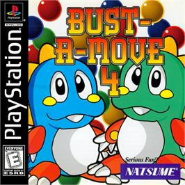 Box cover for Bust-A-Move 4 on the Sony Playstation.